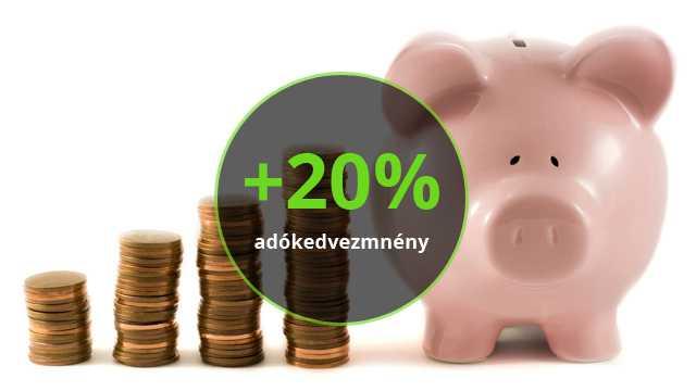 20% adókedvezmény