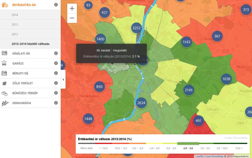 budapest ingatlan térkép Hogyan változtak az ingatlan árak 2013 óta?   Pénzügyi Tudakozó budapest ingatlan térkép